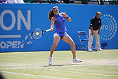 June 16th 2017, Nottingham, England; WTA Aegon Nottingham Open Tennis Tournament day 5;  Maria Sakkari of Greece in action against Donna Vekic of Croatia
