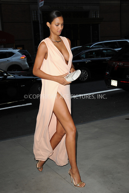 www.acepixs.com<br /> September 8, 2016  New York City<br /> <br /> Lais Ribeiro attending the The Daily Front Row's 4th Annual Fashion Media Awards at Park Hyatt New York on September 8, 2016 in New York City. <br /> <br /> <br /> Credit: Kristin Callahan/ACE Pictures<br /> <br /> <br /> Tel: 646 769 0430<br /> Email: info@acepixs.com