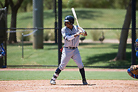 AZL Padres 2 right fielder Yordi Francisco (5) at bat during an Arizona League game against the AZL Dodgers at Camelback Ranch on July 4, 2018 in Glendale, Arizona. The AZL Dodgers defeated the AZL Padres 2 9-8. (Zachary Lucy/Four Seam Images)