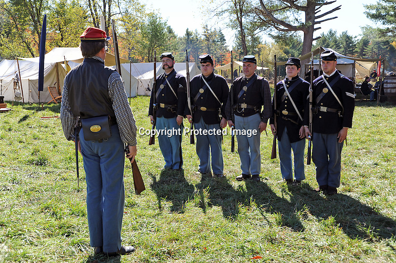 Civil War Reenactment Union Army Camp Rifle Drill