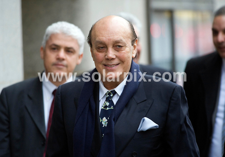 **ALL ROUND PICTURES FROM SOLARPIX.COM**                                             **  UK NEWSPAPER PUBLICATION PERMITTED ONLY AFTER 7 DAYS FROM THIS CAPTION DATE**.**UK MAGAZINE & SUPPLEMENT PUBLICATION ONLY** AND NO PUBLICATION IN AUSTRALIA, BELGIUM, FRANCE, GERMANY, ITALY, SCANDINAVIA AND USA**                                                                                  Caption:  Turkish Cypriot businessman, who was Chief executive of Polly Peck .Asil Nadir, arrives at the Old Bailey today where he is on trial  accused of stealing £34m.In 1990, the business collapsed following an investigation by the Serious Fraud Office and charges were brought against Asil Nadir on 70 counts of false accounting and theft                                                                           This pic:                                                                                              JOB REF:14379        SFE       DATE: 23.01.2012                                                           **MUST CREDIT SOLARPIX.COM OR DOUBLE FEE WILL BE CHARGED**                                                                      **MUST AGREE FEE BEFORE ONLINE USAGE**                               **CALL US ON: +34 952 811 768 or LOW RATE FROM UK 0844 617 7637**