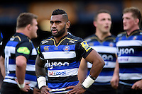 Niko Matawalu of Bath Rugby looks on during a break in play. Aviva Premiership match, between Bath Rugby and Exeter Chiefs on October 17, 2015 at the Recreation Ground in Bath, England. Photo by: Patrick Khachfe / Onside Images
