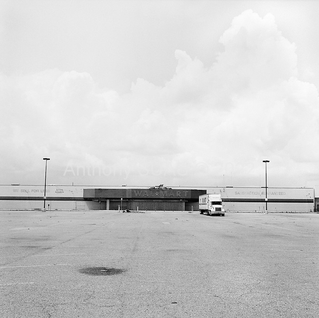 Saint Bernard's Parish, Louisiana.USA.May 29, 2006..A delivery truck sits in front the remains of a Wal Mart.