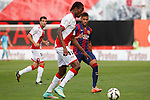Rayo Vallecano´s Abdoulaye (L) and Barcelona´s Neymar Jr during La Liga match between Rayo Vallecano and Barcelona at Vallecas stadium in Madrid, Spain. October 04, 2014. (ALTERPHOTOS/Victor Blanco)