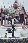 OPEN AIR TEMPLE AND TREE IN GRAND PALACE BANGKOK