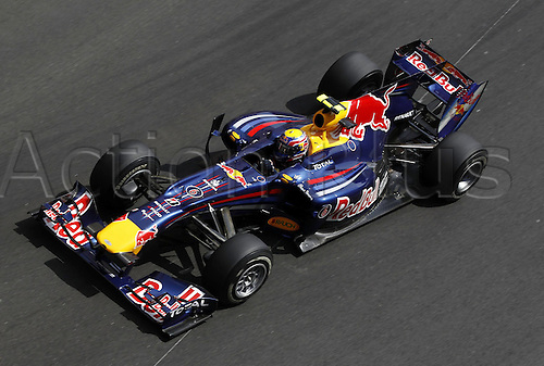 16/05/2010 Formula one GP Monaco Monte Carlo, Mark Webber racing in his Red Bull.