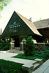 Illinois: Chicago.  Architect Frank Lloyd Wright's house.  Photo chicag105..Photo copyright Lee Foster, 510/549-2202, lee@fostertravel.com, www.fostertravel.com