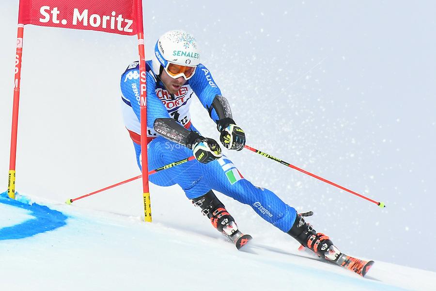 February 17, 2017: Riccardo TONETTI (ITA) competing in the men's giant slalom event at the FIS Alpine World Ski Championships at St Moritz, Switzerland. Photo Sydney Low