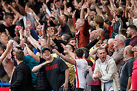Sheffield United fans tease Chelsea fans after their late equaliser during the Premier League match between Chelsea and Sheff United at Stamford Bridge, London, England on 31 August 2019. Photo by Carlton Myrie / PRiME Media Images.