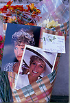 PRINCESS DIANA FLORAL TRIBUTES OUTSIDE, KENSINGTON PALACE, LONDON, 1997
