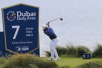 Tyrrell Hatton (ENG) tees off the 7th tee during Thursday's Round 1 of the Dubai Duty Free Irish Open 2019, held at Lahinch Golf Club, Lahinch, Ireland. 4th July 2019.<br /> Picture: Eoin Clarke | Golffile<br /> <br /> <br /> All photos usage must carry mandatory copyright credit (© Golffile | Eoin Clarke)