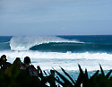 Empty wave line up of Pipeline on the Northshore of Oahu in Hawaii.