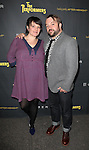Jessica Wegener Shay & husband attending the Broadway Opening Night Performance of 'The Performers' at the Longacre Theatre in New York City on 11/14/2012