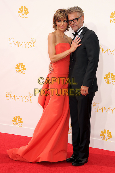 25 August 2014 - Los Angeles, California - Lisa Rinna, Harry Hamlin. 66th Annual Primetime Emmy Awards - Arrivals held at Nokia Theatre LA Live. <br /> CAP/ADM/BP<br /> &copy;BP/ADM/Capital Pictures