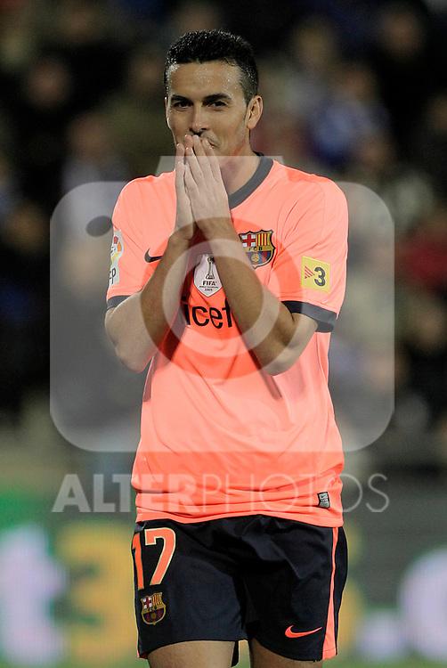 FC Barcelona's Pedro Rodriguez during La Liga match.November 07,2010. (ALTERPHOTOS/Acero)
