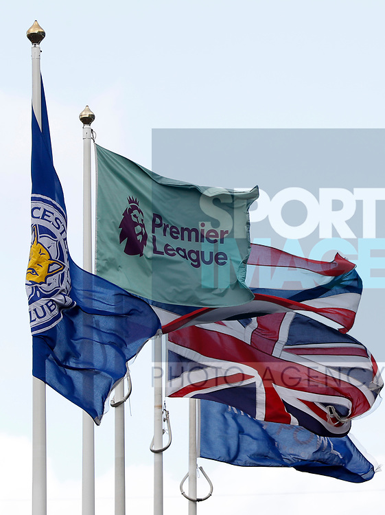 Flag fly outside Leicester City's ground before the Premier League match against Chelsea at the King Power Stadium, Leicester. Picture date: 1st February 2020. Picture credit should read: Darren Staples/Sportimage