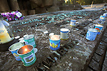 Ruiny dachu - obecny stan komory gazowej i Krematorium III, Auschwitz II-Birkenau<br /> Collapsed roof - present state of gas chamber and Crematory III, Auschwitz II-Birkenau, Poland
