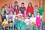 Castleisland kids who had a great time at the Castleisland Community Centre Easter camp on Friday front row l-r: Evan O'Brien, Sean Collins Orla O'Connell, Aisling Moloney, Katy Dwyer, Siobhain O'Donoghue. Middle row: Cian Ziglisk, Shauna Geaney, Aoife Kerins, Maria Dwyer, Grainne O'Connor, Emily O'Brien, Bernadette O'Mahony. Back row: Janine O'Sullivan, Aine Carey, Britney O'Rourke, Sarah Conway, Mark O'Donoghue, Ruth Prenderville, Aidan Carey and Colin Kerins..