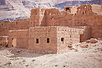 Kasbah and clay houses in the Draa Valley, Morocco.