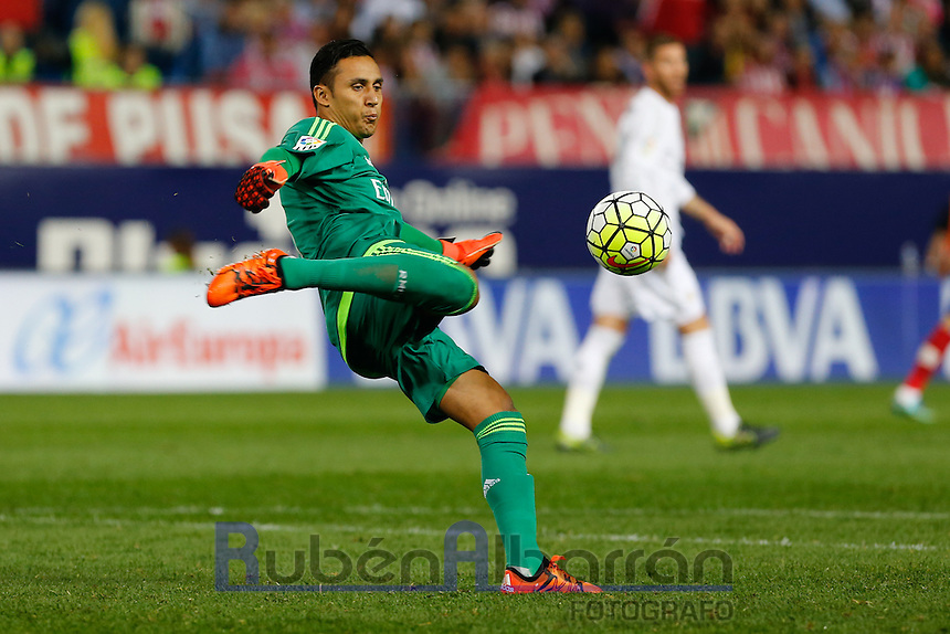 Real Madrid's Costa Rican goalkeeper Keylor Navas