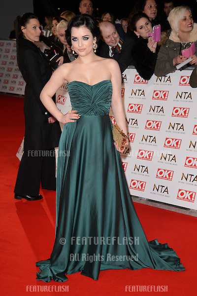 Shona McGarty arrives for the National TV Awards 2015 at the O2 Arena, Greenwich London. 21/01/2015 Picture by: Steve Vas / Featureflash