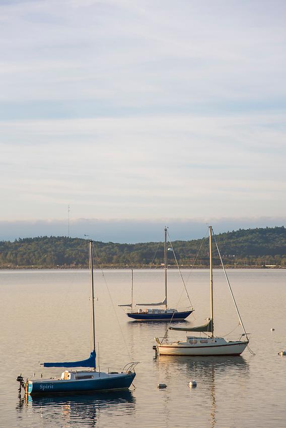 Sailboats on Lake Superior, Marquette, Michigan.