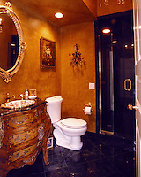 Classic Bathroom With Fancy Light Fixtures