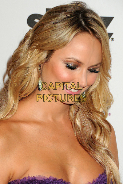 Stacy Keibler  .15th Annual Hollywood Film Awards Gala held at the Beverly Hilton Hotel, Los Angeles, California, USA..24 October 2011.headshot portrait looking down eyes closed eyeshadow make-up beauty purple strapless  .CAP/ADM/BP.©Byron Purvis/AdMedia/Capital Pictures.