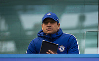 Chelsea assistant Manager and analyser Gianluca CONTE (brother of Antonio) during the Premier League match between Chelsea and Watford at Stamford Bridge, London, England on 21 October 2017. Photo by Andy Rowland.