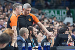 Referees Matej Boltauzer and Luigi Lamonica during Turkish Airlines Euroleague match between Real Madrid and Fenerbahce Dogus at Wizink Center in Madrid , Spain. March 02, 2018. (ALTERPHOTOS/Borja B.Hojas)