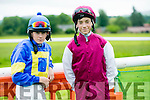 l-r  Ben Cohen and Shane Cross enjoying the  Castleisland races in Powells road Castleisland on Saturday