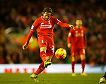 Joe Allen of Liverpool in a action - English Premier League - Liverpool vs Manchester City - Anfield Stadium - Liverpool - England - 3rd March 2016 - Picture Simon Bellis/Sportimage