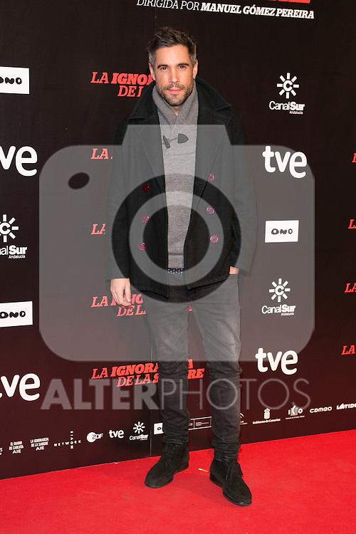 """Unax Ugalde attends """"La Ignorancia de la Sangre"""" Premiere at Capitol Cinema in Madrid, Spain. November 13, 2014. (ALTERPHOTOS/Carlos Dafonte)"""