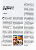 KulturAustausch (German foreign cultural policy monthly) on municipal elections in Budapest, Hungary, 01.2020.<br /> Text and Photo: Martin Fejer