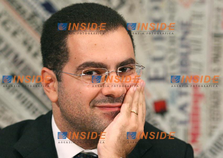 Roma 04-10-2006 Stampa Estera:Presentazione di 'Provviste' Ed. Formiche.<br /> Nella foto Paolo Messa<br /> Photo Serena Cremaschi Inside