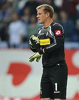 FUSSBALL   1. BUNDESLIGA   SAISON 2011/2012    4. SPIELTAG FC Schalke 04 - Borussia Moenchengladbach             28.08.2011 Torwart Marc-Andre ter STEGEN (Moenchengladbach) nach dem Abpfiff enttaeuscht