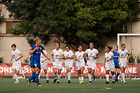 Seattle, WA - Sunday, September 24th, 2017: FC Kansas City celebrate Shea Groom's goal during a regular season National Women's Soccer League (NWSL) match between the Seattle Reign FC and FC Kansas City at Memorial Stadium.