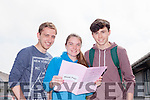 Sean Herrick, Sarah Quigley and Sean Higgins sat their first Leaving Cert exam in Mercy Mounthawk Secondary School on Wednesday (yesterday) morning.