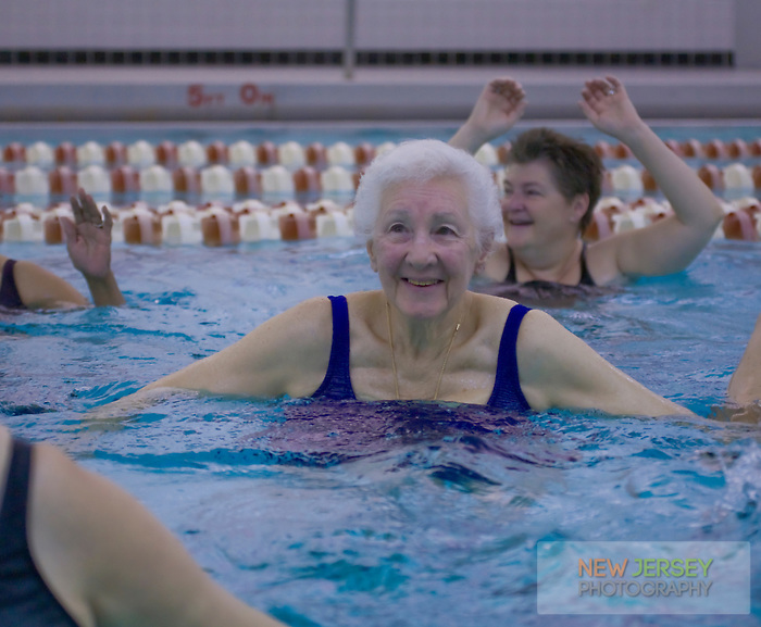 Senior Citizens aquatics class, Riverside YMCA, Burlington, Burlington County, New Jersey