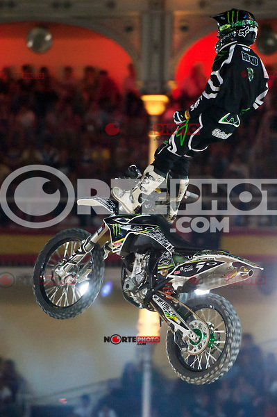 Red Bull X-Fighters 2012. Madrid. Rider In the picture Blak Williams AUS. July 19, 2012. (ALTERPHOTOS/Ricky Blanco) *NortePhoto.com*<br /> *SOLO*VENTA*EN*MEXICO**<br />  **CREDITO*OBLIGATORIO** *No*Venta*A*Terceros*<br /> *No*Sale*So*third* ***No*Se*Permite*Hacer Archivo***No*Sale*So*third*©Imagenes*con derechos*de*autor©todos*