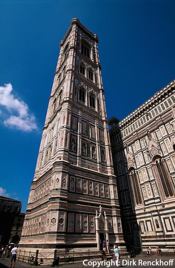 Campanile und Dom, Florenz, Toskana, Italien, Unesco-Weltkulturerbe