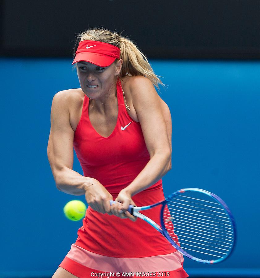 MARIA SHARAPOVA (RUS)<br /> <br />  - Australian Open 2015 - Grand Slam -  Melbourne Park - Melbourne - Victoria - Australia  - 27 January 2015. <br /> &copy; AMN IMAGES