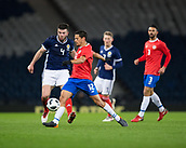23rd March 2018, Hampden Park, Glasgow, Scotland; International Football Friendly, Scotland versus Costa Rica; Daniel Colindres of Costa Rica and Grant Hanley of Scotland
