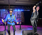 HOLLYWOOD, FL - OCTOBER 25: Ray Simpson and Eric Anzalone of The Village People perfoms at the 13th Annual Footy's Bubbles & Bones Gala at Westin Diplomat Resort and Spa on October 25, 2013 in Hollywood, Florida. (Photo by Johnny Louis/jlnphotography.com)