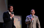 Fox 5 Ernie Anastos (news) & Nick Gregory (meteorologist) at Loukoumi & Friends Concert held on June 23, 2014 at the Scholastic Theatre, New York City, New York.  Proceeds will benefit The Loukoumi Make a Difference Foundation. Foundation first project will be the Make A Difference with Loukoumi television special airing on FOX stations Oct 19-20. (Photo by Sue Coflin/Max Photos)