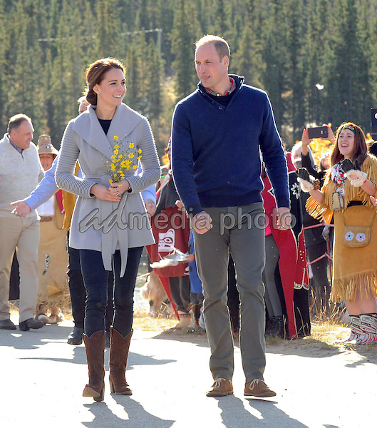 28 September 2016 - Carcross, Yukon Territory, Canada - Princess Kate Duchess of Cambridge and Prince William Duke of Cambridge visit Carcross Commons at the Yukon River in Carcross, Yukon Territory, Canada. Photo Credit: AdMedia
