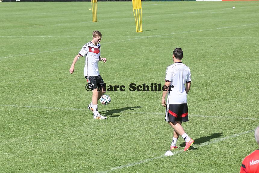 Christoph Kramer und Kevin Volland - Training der Deutschen Nationalmannschaft  zur WM-Vorbereitung in St. Martin