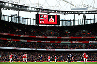 7th March 2020; Emirates Stadium, London, England; English Premier League Football, Arsenal versus West Ham United; Mesut Ozil of Arsenal is substituted