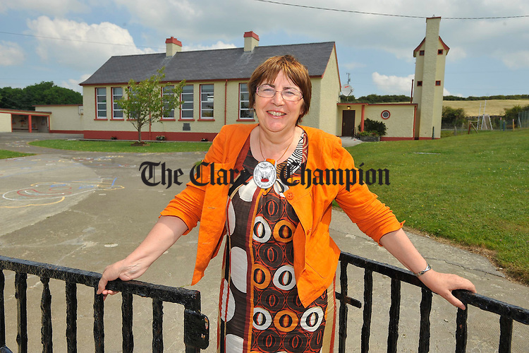 Nora Madigan who has retired from teaching principal at Knockerra N.S after 34 years service. Photograph by John Kelly.