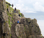 Tourists make their way up the 600 steps to the top of Skellig Micheal where filming of Star Wars is due to take place in September.<br /> Photo: Don MacMonagle <br /> e: info@macmonagle.com